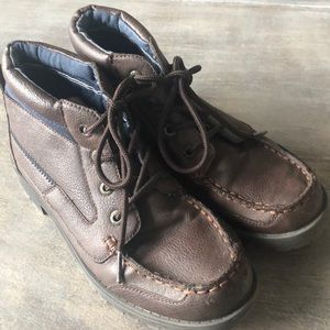Boys Nautica Brown Leather Boots